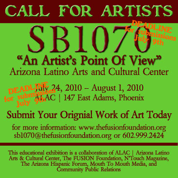 SB1070 A Call for Artists
